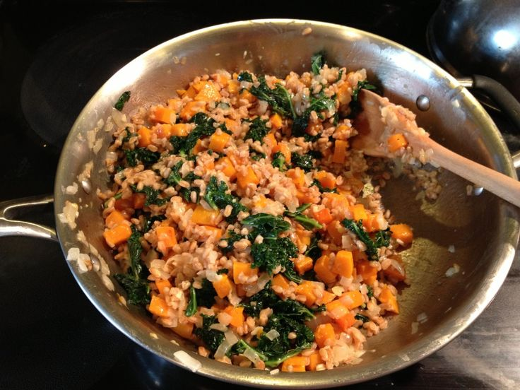 with butternut squash & kale from coffee & quinoa. Farro and quinoa ...