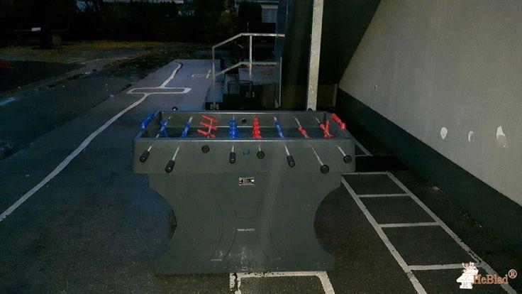 Tafelvoetbaltafel van beton Antraciet bij Michael-Ende-Schule in Elsdorf