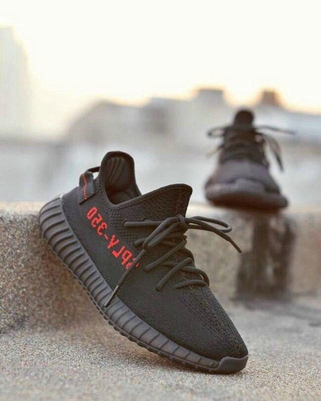 057e7c2d9 May 2017 Cheap High Quality UK SIZE 9 4 10 ADIDAS FACTORY MATERAILS YEEZY  350 V2 PIRATE BRED BLACK WITH RED LETTERS BASF