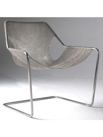 Paulistano armchair circa 1950's, redesigned in mesh by Paulo Mendes da Rocha…