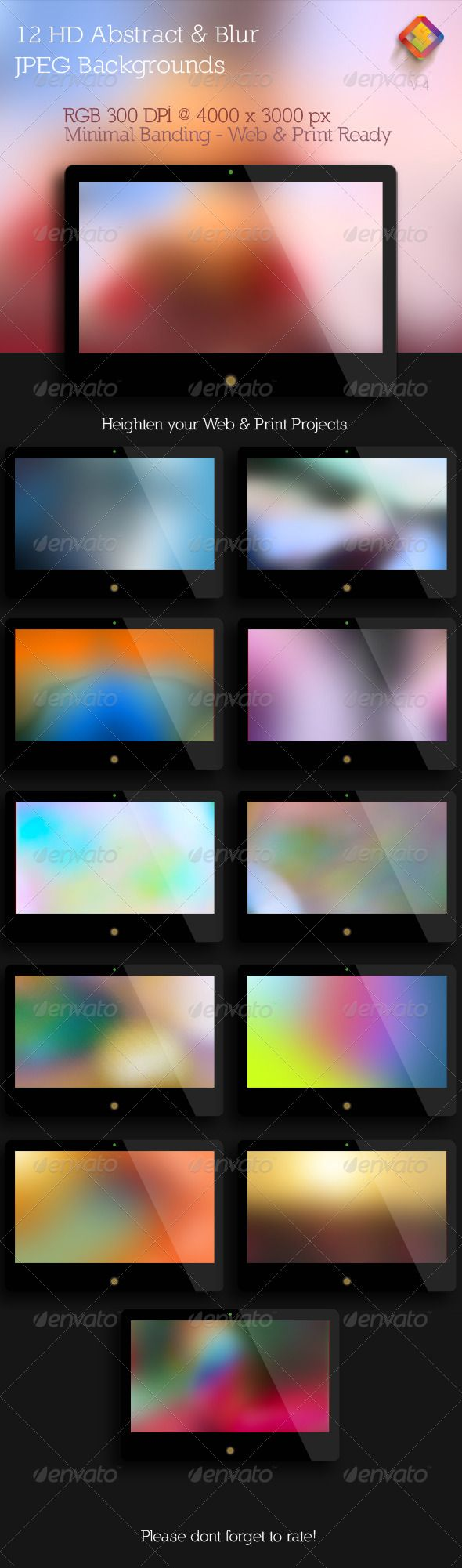 Abstract and Blur Backgrounds  V.4