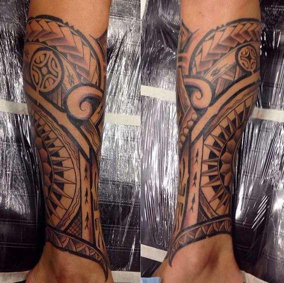 Полинезийские татуировки на предплечье