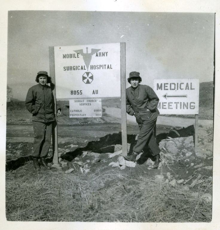 MASH Unit Nurses Taking Time For A Photo ... South Korea
