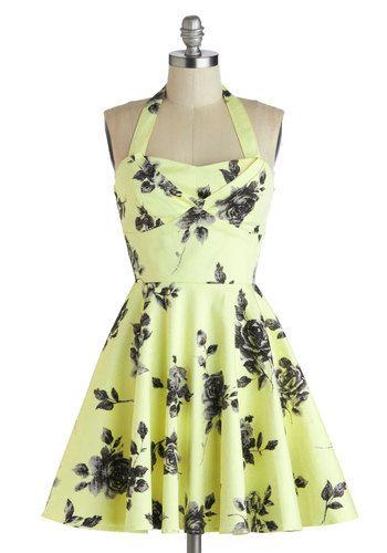 Traveling Cupcake Truck Dress in Lemon Roses, #ModCloth