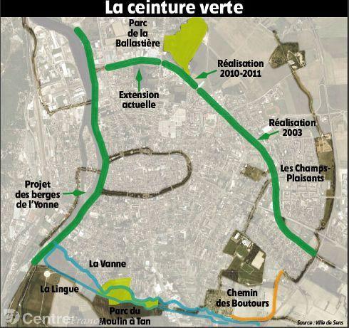 www.lyonne.fr - Senonais - SENS (89100) - La ceinture verte : 625 mètres de plus pour se la couler douce