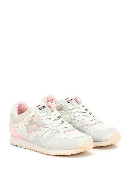 LOTTO LEGGENDA - Sneakers - Donna - Sneaker in pelle, camoscio e tessuto con suola in gomma. Tacco 20. - SABBIA\ROSA - € 110.00