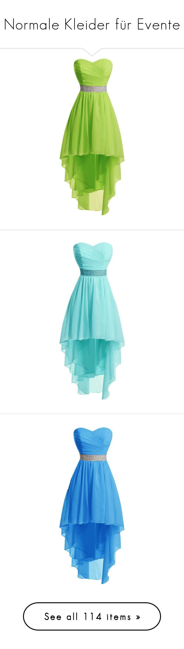 """""""Normale Kleider für Evente"""" by lynera ❤ liked on Polyvore featuring dresses, homecoming dresses, cocktail prom dress, green dress, high low homecoming dresses, green prom dresses, hi low prom dresses, cocktail party dress, blue dress and hi lo prom dresses"""