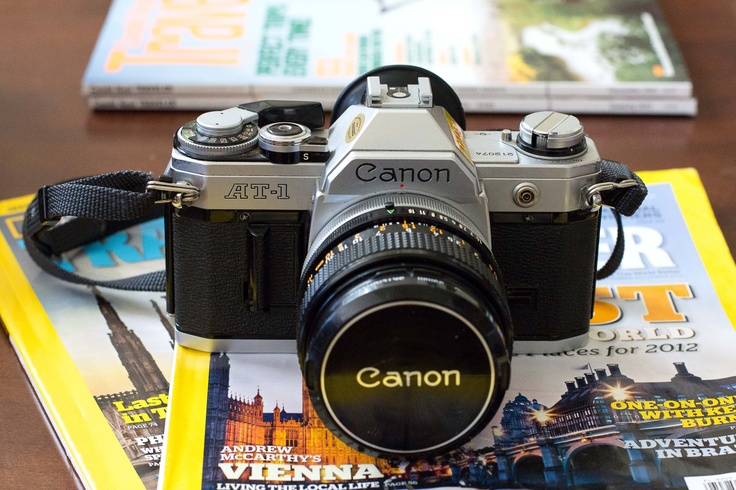 Vintage Canon SLR. I own this :)