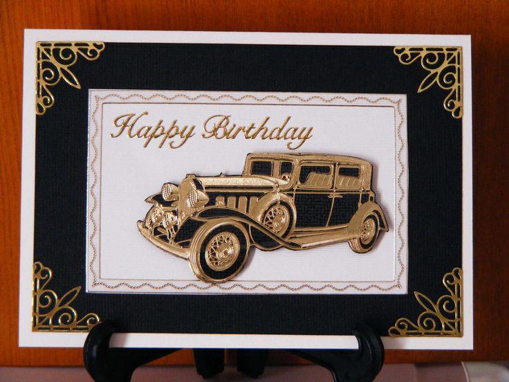Old car birthday card