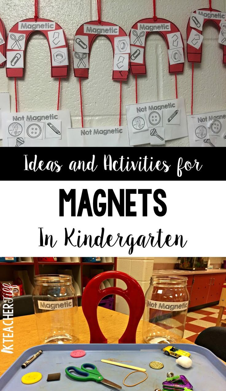 Activities and experiments for magnets in kindergarten. Fun ideas!