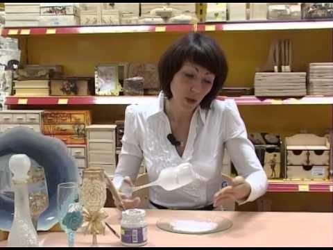 Свадебный бокал, декор с использованием сатинирующего спрея, хрустальной пасты и бисера - YouTube