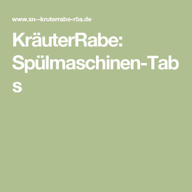 KräuterRabe: Spülmaschinen-Tabs