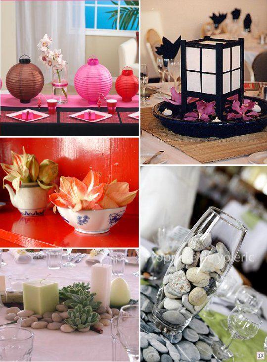 Decoration mariage asie japonais chinois centre de table for Decoration asie