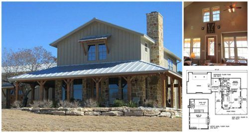 Lovely Metal Building Ranch Home With A Wrap Around Porch