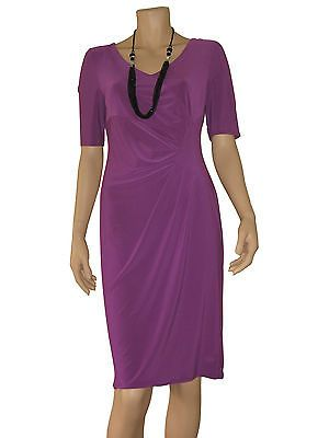 Dress with v-neck, bodycon style, lined, size 12