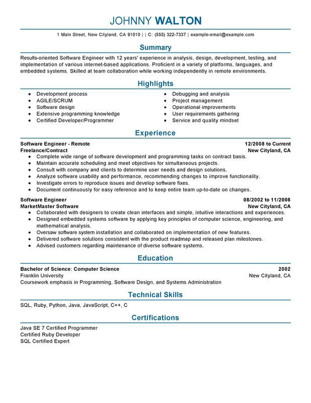 The 25+ best Resume software ideas on Pinterest Best cv layout - software developer cover letter