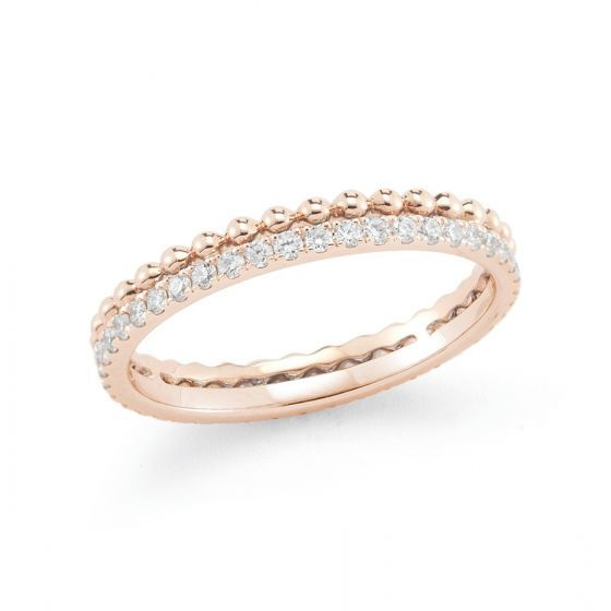 POPPY RAE: Rose Gold Diamond Band #PoppyRae #rosegold #diamond #rings #DRDrings