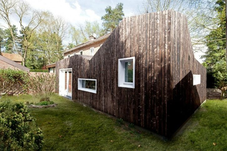 Prefab Dutch 'Shou Sugi Ban' House Features a Low-Maintenance Charred Timber Facade Shou Sugi Ban-BYTR Architects – Inhabitat - Sustainable Design Innovation, Eco Architecture, Green Building