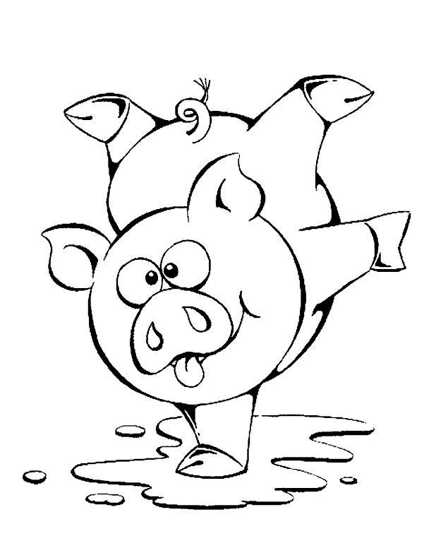 Dibujos para colorear de Cerdos, Gorrino, Cochino, Puerco ...