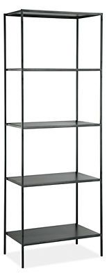 Slim Bookcases in Natural Steel - New - Bookcases & Shelves - Office - Room & Board