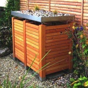 Mülltonnenbox in Lärche horizontal - Muelltonnenbox24.de