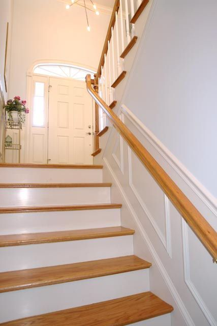 Split foyer split foyer ideas pinterest entry stairs for Foyer staircase ideas