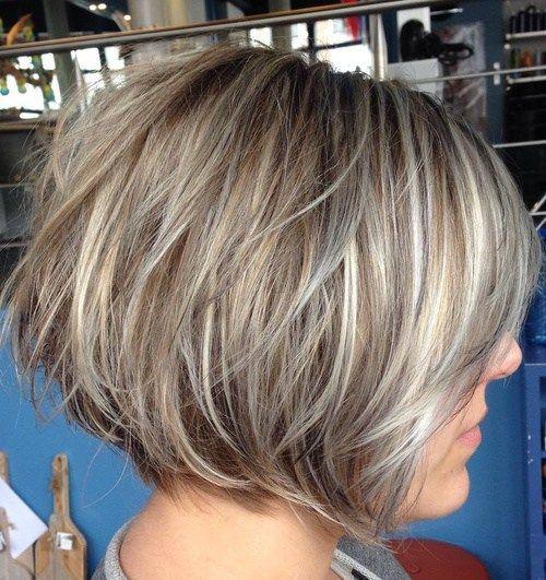 40 Short Bob Hairstyles: Layered, Stacked, Wavy and Angled Bob Cuts #BobCutHairstyles