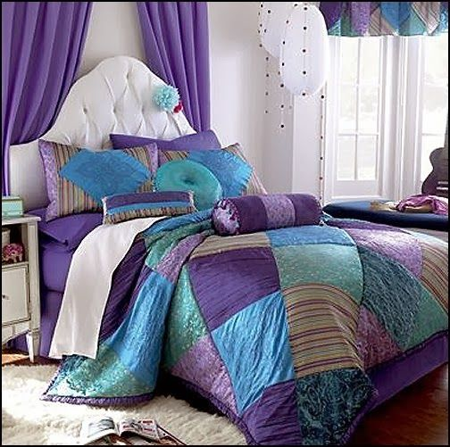 Create an aura of mystical appeal with the Crystal Violet bedding collection. potpourri of color, pattern and texture -