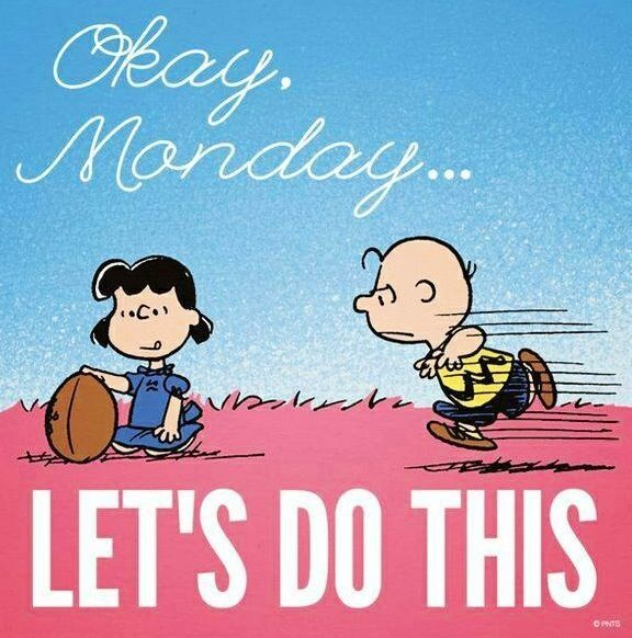 okay monday lets do this funny football charlie brown days of the week mondays humor