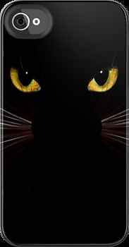 Black Cat Iphone & iPod covers by sandnotoil   Wow! ....  I would love to have one of these! ...  dw