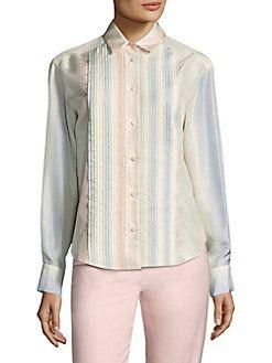 Piazza Sempione - Silk Herringbone Shirt