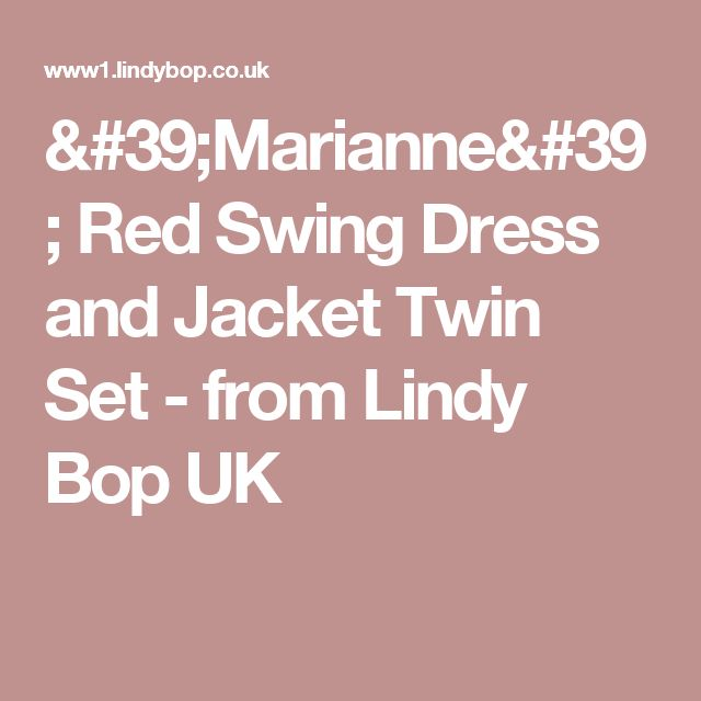 'Marianne' Red Swing Dress and Jacket Twin Set -  from Lindy Bop UK