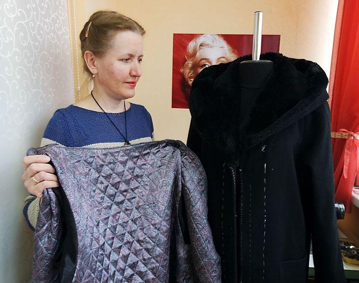 Соединяем подкладку с верхом пальто   УРОКИ ПО ШИТЬЮ с Еленой Колесниченко