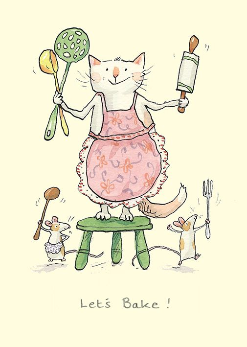 M230 Lets Bake ! by Anita Jeram for Two Bad Mice cards