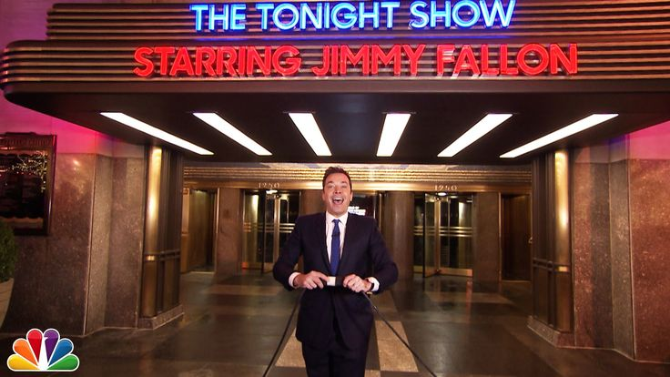 Jimmy Lights Up The Tonight Show's Marquee