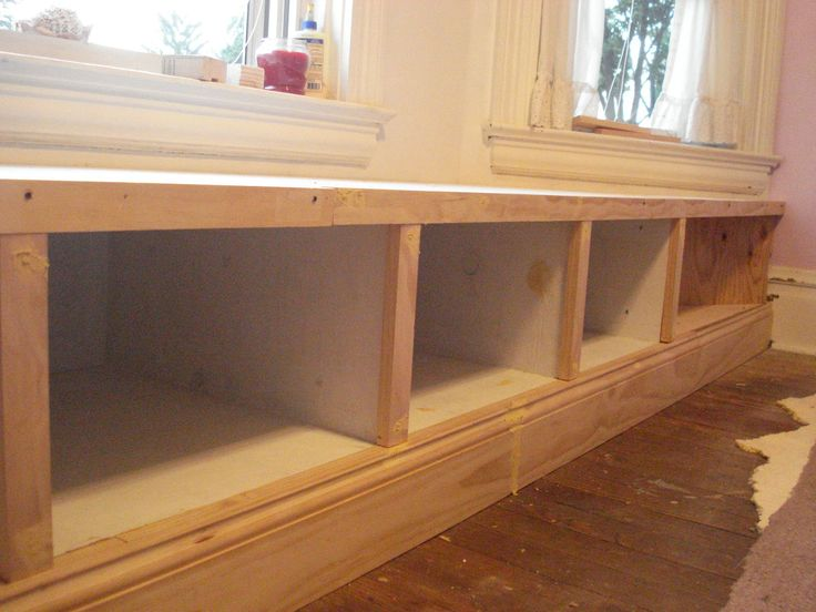 Built in seating under window