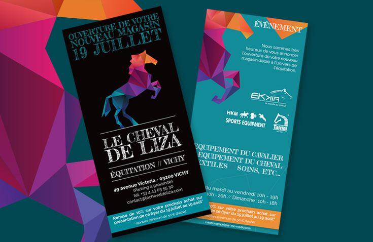 Création graphique d'un flyer - Le Cheval de Liza