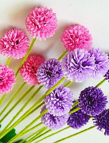 Fashion bouquets,Artificial flowers, High Quality Artificial Flower Bright Color Lavender Silk Flower for Wedding and Decorative , pink