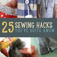 After sewing for years I've naturally acquired a handful of tips and tricks. I've gathered together 25 of my favorites just for you. Read on for some of the best sewing hacks out there, and you'll be master of the machine in no time. Don't miss out on this awesome list of sewing