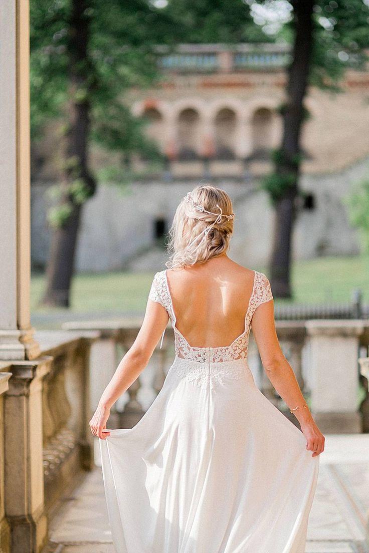 Hair wedding half-raised half-open, ideas for bridal hairstyle, wedding fri …