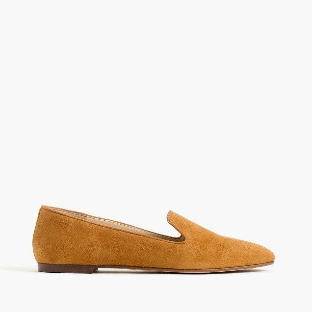 women's suede smoking slippers - women's footwear