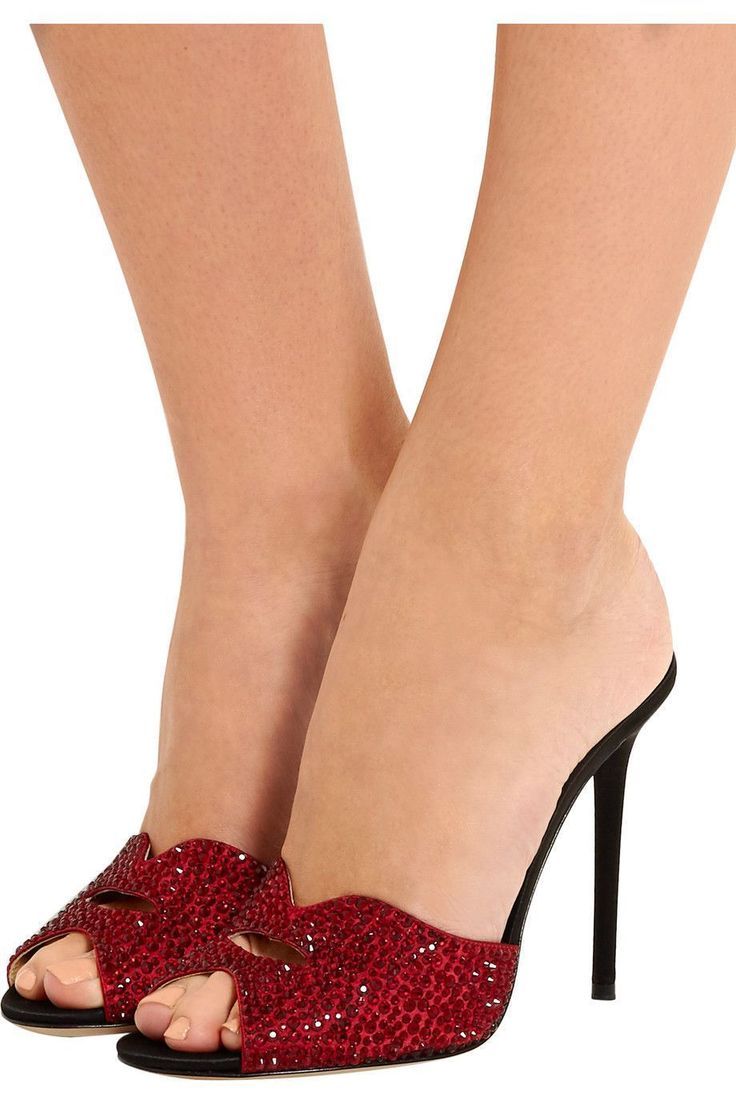 Shop on-sale Charlotte Olympia + Agent Provocateur Kiss My Feet crystal-embellished satin mules. Browse other discount designer Sandals & more on The Most Fashionable Fashion Outlet, THE OUTNET.COM #charlotteolympiaheelsproducts #charlotteolympiaheelsshopping