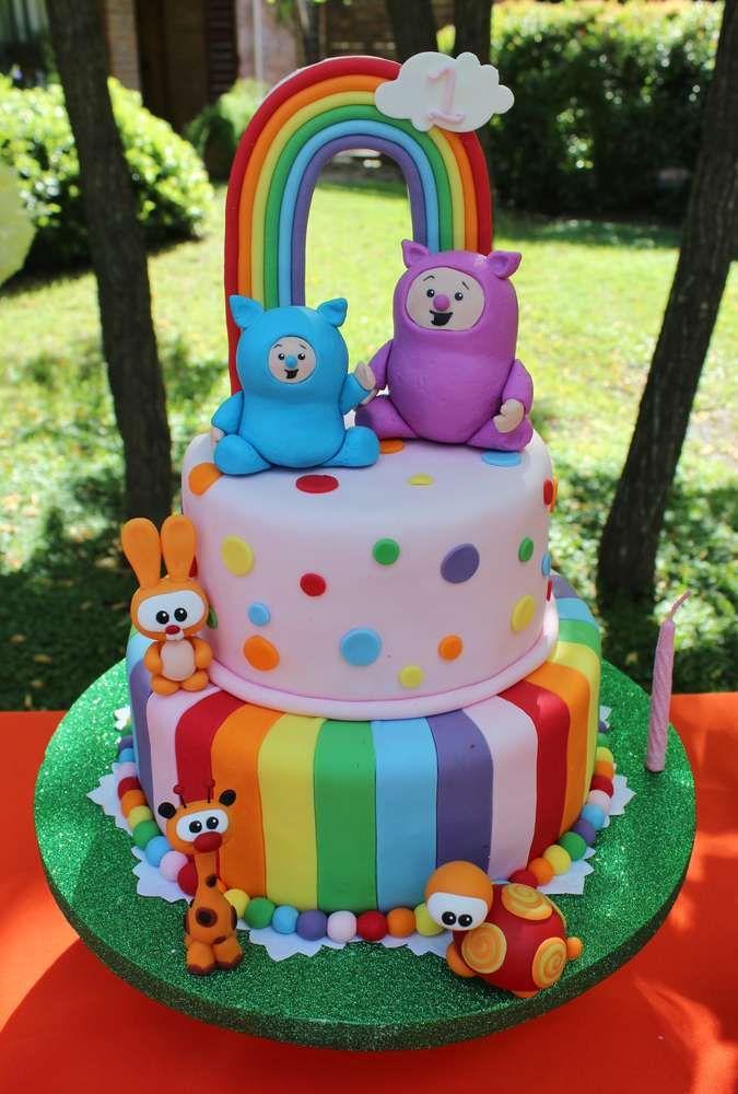 Rainbow & Animals Birthday Party Ideas | Photo 2 of 16 | Catch My Party