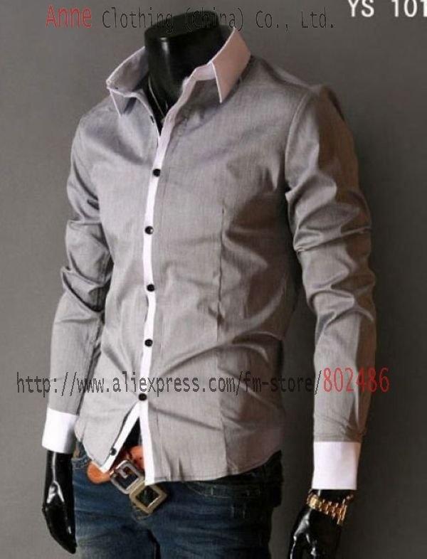 Highest Quality Dress Shirt | High quality cheap wholesale shirt Mens Slimline Stylish Patched Dress ...