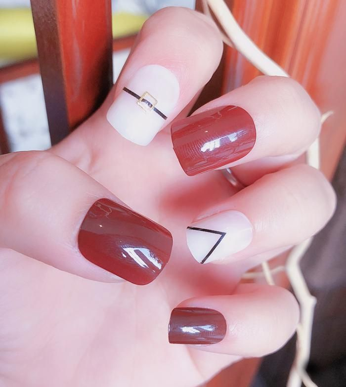 Artificial Nail Patches 24 Pieces Of Nail Patches C29 ...