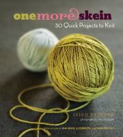 "30 diverse projects that can be completed with one or two average-sized skeins of yarn or multiple bits of leftover yarn. Projects include an earflap hat sized for the whole family; fingerless mitts; sweaters, britches, and capelets for baby; hemp jewelry embellished with jump ring ""beads""; a felted, pleated sleeve to dress up a vase; and a multicolored blanket worked from assorted stash yarn"