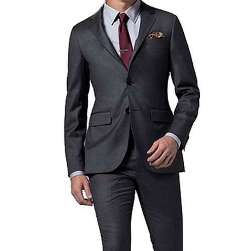 how to wear a dark grey suit