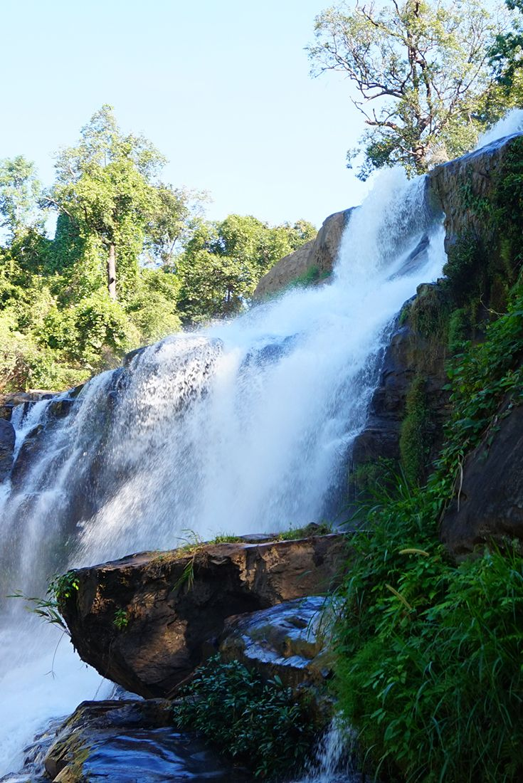 Wasserfall im Doi Inthanon Nationalpark, Chiang Mai, Thailand
