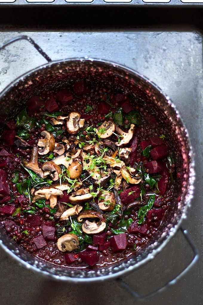 This is a delicious, rather wintery stew. The spinach adds a nice and fresh note to balance all the earthy flavors of the beets, mushrooms and lentils. Beluga lentils are among my favorite kinds of lentils because they stay firm even when cooked and have a light nutty flavor. They are great also in salads, …