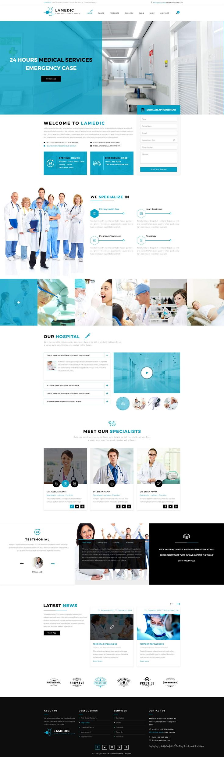 Lamadic is wonderful premium #PSD template for stunning #Health & Medical #website. Download Now!